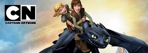la pantalla de Cartoon Network con el estreno de Dragones de Berk